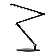 Z-Bar Mini LED Desk Lamp with Base Warm Light/Metallic Black