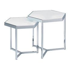 Bliz Hexagonal Side Tables, Set of 2