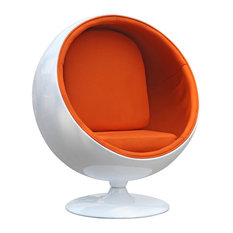 Fine Mod Imports - Fine Mod Imports Fiberglass Patio Chair, Orange Finish - Armchairs and Accent Chairs