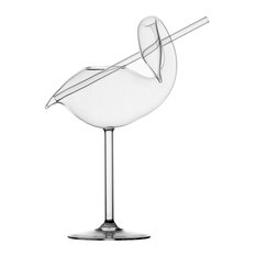 Martin Jakobsen Swan Shaped Cocktail Glass with Straw - Novelty Stemware