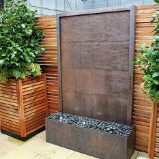 Kupfer Wasserwand   Gartenskulpturen