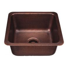 "Como Handcrafted Sink, Copper, 17"""