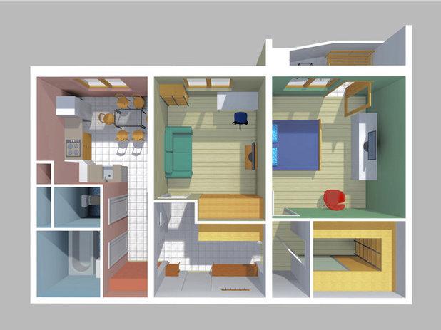 Дизайн двухкомнатной квартиры п-44