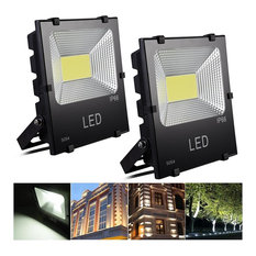 2-Pack 50W Led Flood Light Cool White Waterproof Outdoor Security Spotlight