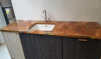 Burned Copper kitchen worktop