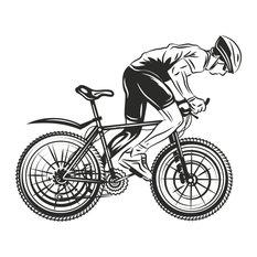 "Cyclist Wall Sticker, 44""x53"""