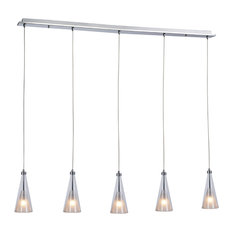 Priss 5-Light Metal and Glass Bar Pendant Light