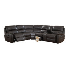 Charmant AMAX LEATHER   Camino Sectional Sofa, Charcoal Gray   Sectional Sofas