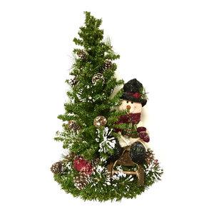 Tall Snowman Centerpiece Arrangement TableTop Tree Winter Christmas Table Decor