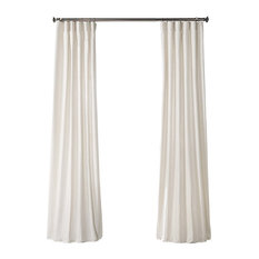 Prairie Cream Solid Country Cotton Curtain Single Panel, 50W x 96L