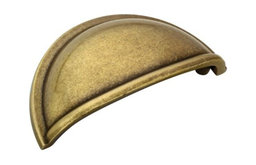 """Cup Pull, 3"""" CTC, Burnished Brass"""