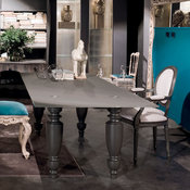 London Glass Top Dining Table