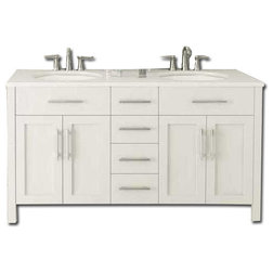 Marvelous Transitional Bathroom Vanities And Sink Consoles White Double Sink Bathroom Vanity Without Countertop