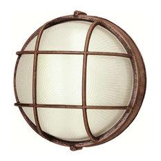 "Trans Globe Trans Globe 10"" Wide Round Bulkhead in Rust"