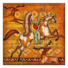 The Tile Mural Store (USA) - Tile Mural, Southwest Horse 1 by Dan Morris - Tile Murals