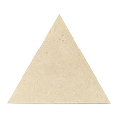 "10.37""x12"" Globus Cork Triangle Tiles, Set of 70, Alabaster"