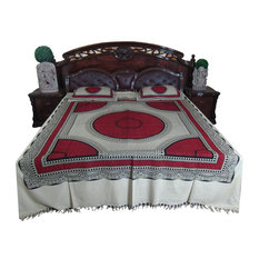 Mogul Interior - Cotton Bedspread Boho Hippie Bedding Queen Size 2 Pillow Covers - Sheet And Pillowcase Sets