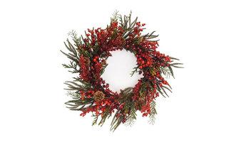 Winter Berry Wreath w/Pinecones