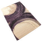 Cyan Design - Large Purple Percival Rug - There's nothing quite like combining two regal colors like purple and ivory to make a statement. Adding drama and interest to a room is easy when this rug takes center stage. The large purple percival rug measures 7.1'W x 11'L. It's made of wool with hand-tufted construction and is purple and ivory in color.