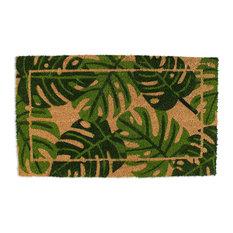 "Palm Leaves Vinyl Back Coir Doormat 18""x30"""