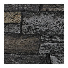 SAMPLE - Wide Stacked Stone Wall Panel, Midnight