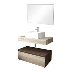 SOCCHI - Slim Dual-Tone Bathroom Vanity Unit, 80 cm - Bathroom Vanity Units & Sink Cabinets