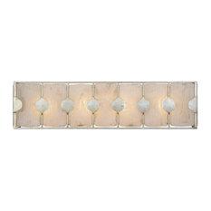 Uttermost Rene 4-Light Swirl Glass Bathroom Vanity Lights