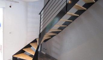 escalier 1/4 tournant en biais pour gain de place