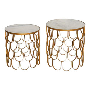 Set of 2 Art Deco Side Tables