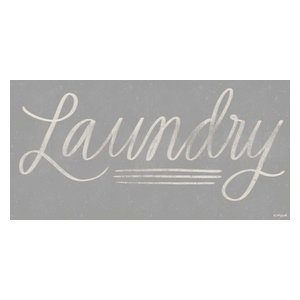 24 x 48 Laundry Chalkboard Poster Print by Katie Doucette