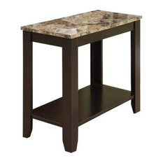 Pemberly Row  End Table In Marble And Cappuccino