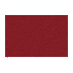 Liv Deep Red Hall Rug, Neon Green Stitching, 170x240 cm