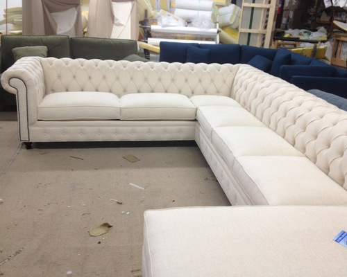 KENZIE STYLE - Chesterfield Custom Sectional Sofas - Sectional Sofas - KENZIE STYLE ( Aka NELLIE) - CUSTOM SECTIONAL SOFA