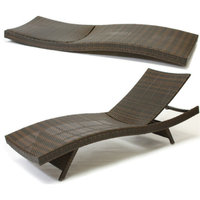 GDF Studio Lakeport Outdoor Adjustable Chaise Lounge Chairs, Set of 2
