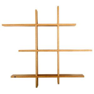 G.A.D Stack Wall Shelves, Oak, Small