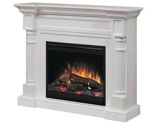 Dimplex Winston White Electric Fireplace Mantel Package - Indoor Fireplaces - Electric Fireplace Mantel Packages