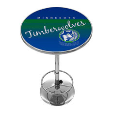 NBA Hardwood Classics Chrome Pub Table, Minnesota Timberwolves