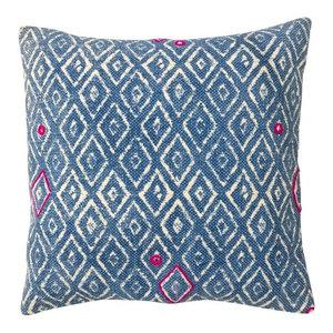 Indigo Batik Cushion, Diamond, Cover Only