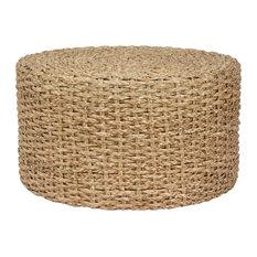 Rush Grass Knotwork Coffee Table/Ottoman, Natural