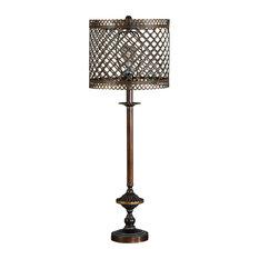 "Rodolf Antique Brass Finish 34"" Metal Table Lamp"