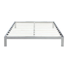 divano roma furniture modern 8 low black metal platform bed frame mattress foundation