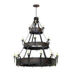 "72"" Costello 21-Light W and Up And Downlights Three Tier Chandelier"