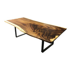 8 ft dining table black blowing rock woodworks live edge guanacaste table ft dining table 8ft tables houzz