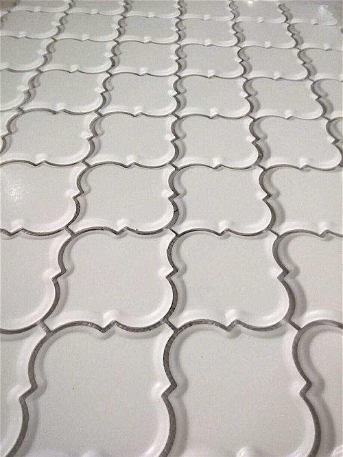 saveemail beveled whisper white arabesque tile