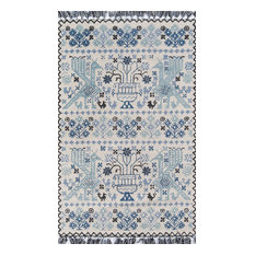 """Tahoe Hand Tufted Blue 3'6""""x5'6"""" Rectangle Rug by Momeni"""