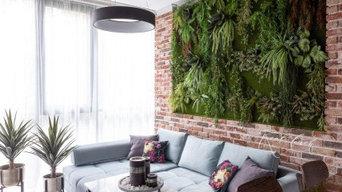 Вертикальное озеленение в эко-лофте