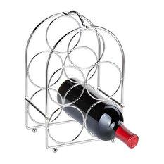 5 Bottle Wine Rack Chrome
