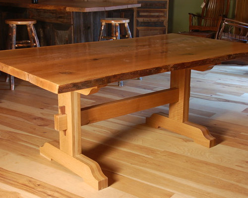 Great Live Edge Dining Tables With Trestle Base   Dining Tables
