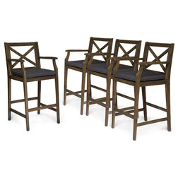 Transitional Outdoor Bar Stools And Counter Stools by GDFStudio