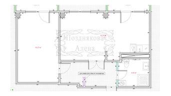 Планировка квартиры 50 м2